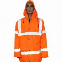 Cheap Reflective Jacket with EN471 Class 2 Approval and Zipper Closure for sale