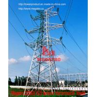 Buy cheap MEGATRO 220KV SJ1 tension transmission line steel tower from wholesalers