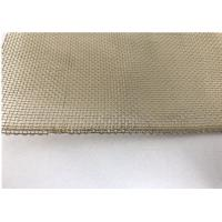 Cheap 40 Brass Wire Mesh For Filter , Roll Metal Mesh Screen 0.2mm / 1m * 30m for sale