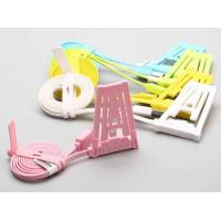 Buy cheap Flat Noodle Dual Cell Phone USB Cable And Holder For Samsung / Blackberry from wholesalers