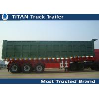 Cheap 100 Ton Heavy Duty Side Dump Trailer with 3 axles for Construction Transportation for sale