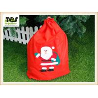 Buy cheap FDA Quality 100% Cotton Reindeer Pattern ChristmasBag Santa Sacks from wholesalers