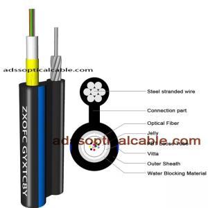 Cheap Exterior Weatherproof Network Cable / Figure 8 Utp Cat6 Fiber Optic Cable for sale