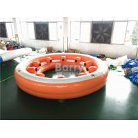 Cheap Amazing Inflatable Water Toys , 10 People Inflatable Floating Sofa With Coffe Cup for sale