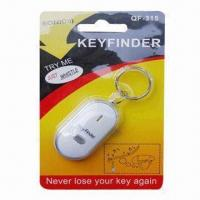Cheap LED Light Whistle Key Finder, Made of Plastic, Measures 5.5 x 2.7 x 1.3cm for sale