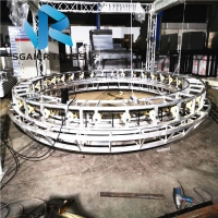 China adjustable double height for led display and lighting Rotating truss revolving truss on sale
