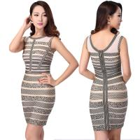 China Latest fashion design sexy ladies floral printed short bodycon bandage dress on sale