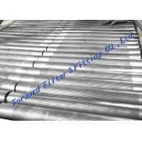 Cheap Margin Hole Free Area Reserved For Longitudinal Welded Perforated Metal Tube / SS304 316 for sale
