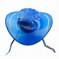Cheap Sun Visor/Promotional Cap with Matching Pouch, Made of Nylon for sale