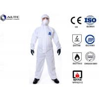 Cheap Comfortable PPE Safety Wear , Chemical Protective Suit Breathable Optimum Fit for sale