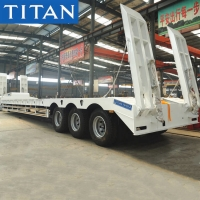 Buy cheap Tri Axle 80 Tons Machine Carriers Hydraulic Low Bed Trailer from wholesalers