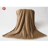 China Elegant Luxury Micro Sherpa Blanket , Heavy Weight Ultra Plush Blanket All Season on sale