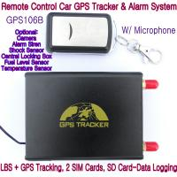 Cheap GPS106B Car Safety Vehicle GPS Tracker W/ Armed by remote-controller & geo-fencing Alarm for sale