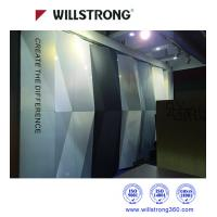 Cheap Exterior PVDF 3D Wall Cladding ACP Aluminum Panel Curtain Wall In Chameleon Color for sale