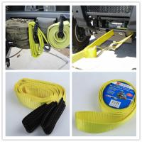 Vehicle Tow Straps : Polyester heavy duty tow straps us type logo printing