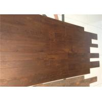 China Commercial / Living Room V groove Handscraped Laminate Flooring Oak Unilin Cilck on sale