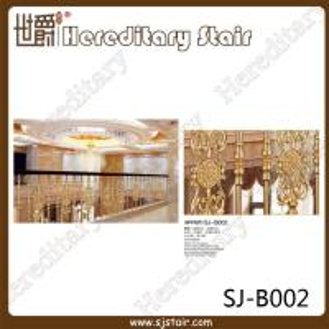 Cheap Indoor Modern Design Casting Aluminum Balustrade (SJ-B002) for sale