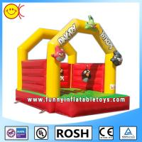 Cheap Safe Customed Commercial Inflatable Bouncers 0.55mm PVC Tarpaulin for sale