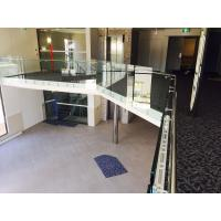 Cheap Modern design glass railing with stainless steel standoff  for veranda for sale