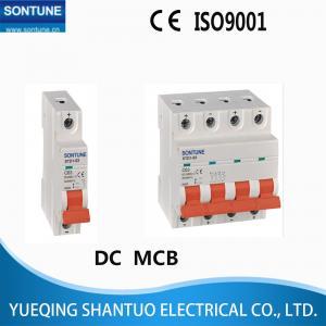 Cheap DC MCB Circuit Breaker , Din Rail Mount Circuit Breaker 6KA 1P 2P 3P 4P using solar 24v 250v 400v 500v 750v 1000v for sale