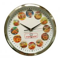 Cheap Food Printing Dial Customized Round Restaurant Wall Clock for AL Kabeer in Thailand for sale