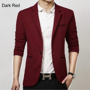 Men Casual Blazer Suit Fashion Design Slim-fit Suit Good Quality Hot Sale !