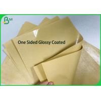 China One sided PE Poly Coated 250gsm 270gsm 300gsm Kraft Paper Board for Food Paper Plates on sale