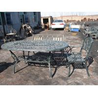 China Open Air Balcony Courtyard Cast Iron Garden Table And Chairs Modern Leisure on sale