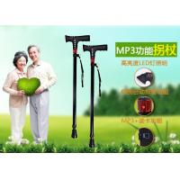 Cheap wholesale walking stick with mp3,aluminium alloy walking cane with mp3, multinational telescopic crutch, wholesale