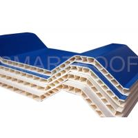 China Noise Absorbing Double Wall Corrugated PVC Sheet 10MM , Plastic Hollow Sheet on sale