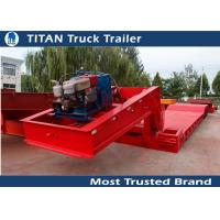 Cheap Extendable 4 axles front loading Lowboy trailer with 80 tons load capacity for sale