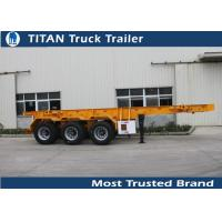 Cheap 30 Ton 20 feet skeletonshipping container chassis with 3 axles 7,000*2,480*1,550 mm for sale