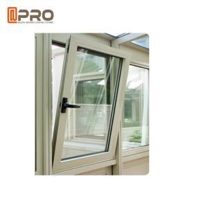 China Wood Grain Casement Glass Tilt N Turn Windows Double Glazed Aluminum Profile on sale