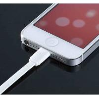 Cheap White TPE Flat Micro USB Cable 8Pin Multifunctional For Iphone 5 wholesale