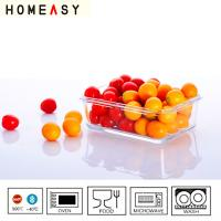 China High Borosilicate Rectangular Glass Storage Containers Microwave Safe on sale