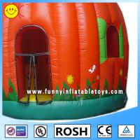 Cheap Full Printing Lovely Inflatable Pumpkin Bouncer Blow Up Obstacle Course for sale