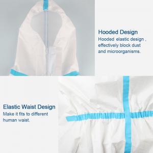 Cheap Splash Repellent Disposable Protective Clothing , Non Woven Disposable Protective Coveralls for sale