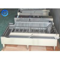 Cheap Automatic Continuous Fryer Machine , Four Row Stainless Steel Donut Fryer Machine for sale