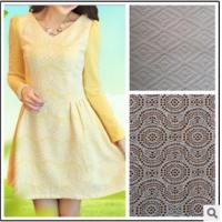 Cheap Grade knitted lace jacquard fabric/Thin fabric long sleeve dress wholesale