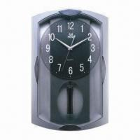 Cheap Pendulum Quartz Wall Clock, Made of Plastic, Customized Designs and Colors Welcomed  for sale