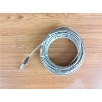 Cheap 5.2mm 7x19 Galvanized Steel Wire Rope Cable With Thimble Bright Coating for sale