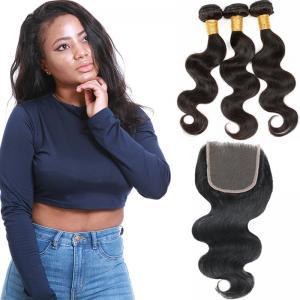 Soft 3 Bundles Virgin Brazilian Hair Extensions , Brazilian Virgin Curly Hair Weave