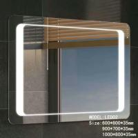 Cheap Walmart Touch Led bathroom mirror with bluetooth speaker / bluetooth makeup mirror for sale
