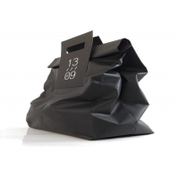 Cheap Folded paper bag - customized by material, color, size, load weight, printing for sale