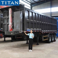 Cheap Heavy Duty 80 Ton Semi Dump Trailer Prices in Uganda Kampala for sale