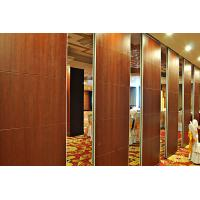 Quality Leather Acoustic Panel Finished Folding Wooden Partition Wall For Artgallery wholesale