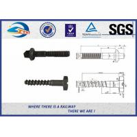 Cheap Plain Driving Railroad Spikes Screws For Fasten Sole Plates To Wooden Sleepers for sale