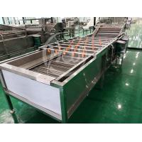 China Clean 3.75kw Vegetable Fruit Washing Machine With Water Circulating System on sale