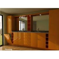 Cheap Wood / Bamboo Modern Bathroom Cabinets Vanities Satin Surface for sale