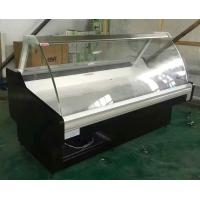 Cheap Stainless Steel Curve glass cold Deli Display Cooler for freash meat for sale